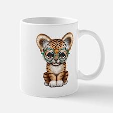 Cute Baby Tiger Cub Wearing Glasses Mugs