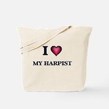 I Love My Harpist Tote Bag