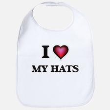 I Love My Hats Bib