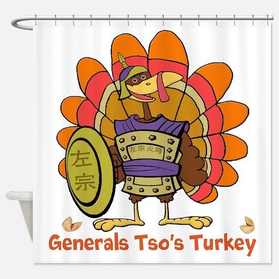 General Tso's Turkey Shower Curtain