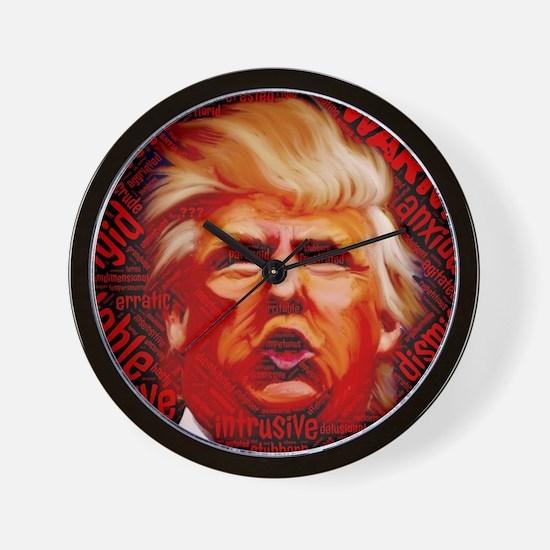 Demented Donald Trump Wall Clock