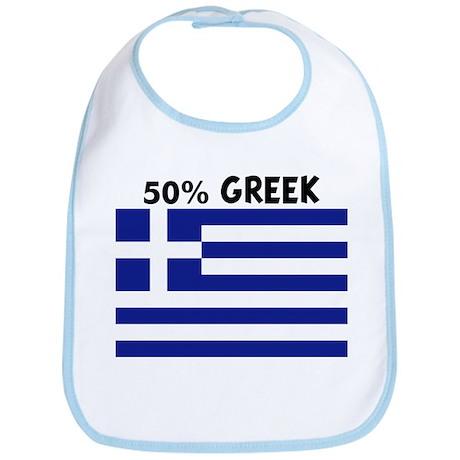 50 PERCENT GREEK Bib
