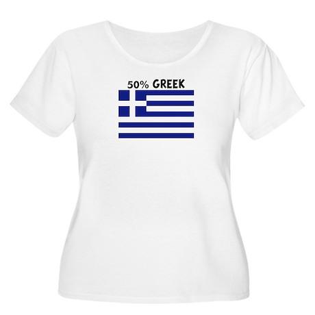 50 PERCENT GREEK Women's Plus Size Scoop Neck T-Sh