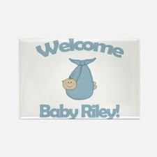 Welcome Baby Riley Rectangle Magnet