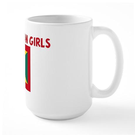 I LOVE GRENADIAN GIRLS Large Mug