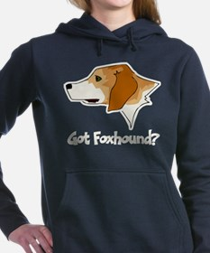 Funny English foxhound Women's Hooded Sweatshirt