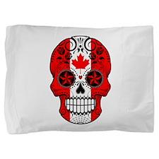 Canadian Sugar Skull with Roses Pillow Sham