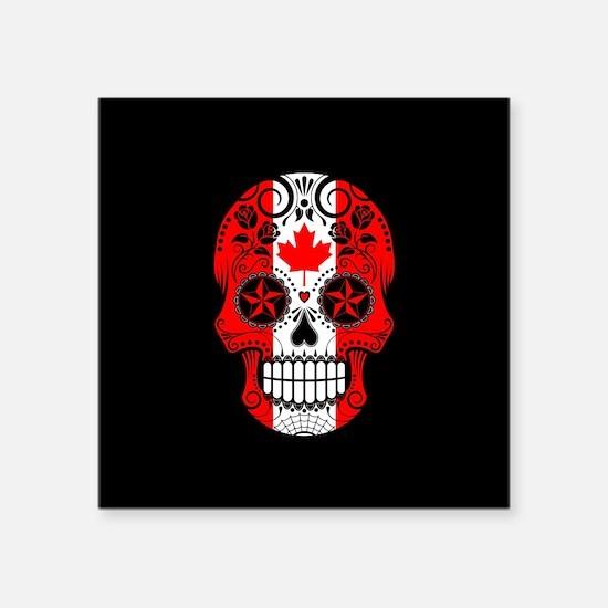 Canadian Sugar Skull with Roses Sticker