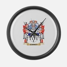 Garret Coat of Arms - Family Cres Large Wall Clock