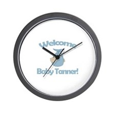 Welcome Baby Tanner Wall Clock