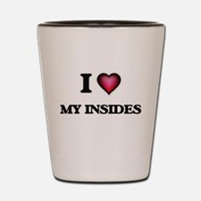 I Love My Insides Shot Glass