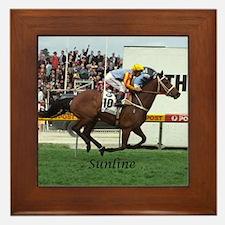 Funny Racehorse Framed Tile
