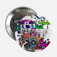 "Sugar Skull Day of the Dead Artsy Ori 2.25"" Button"