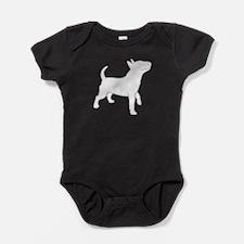 Cute Bull terrier design Baby Bodysuit