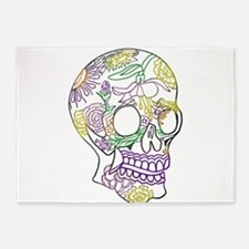 Sugar Skull Day of the Dead Artsy O 5'x7'Area Rug