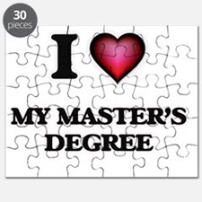 I Love My Master'S Degree Puzzle