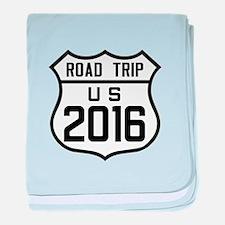 Road Trip US 2016 baby blanket