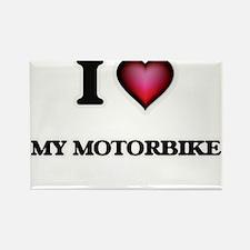 I Love My Motorbike Magnets