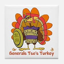General Tsos Turkey Tile Coaster