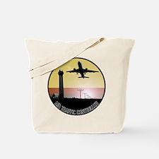 ATC: Air Traffic Control Tower & Plane Tote Bag