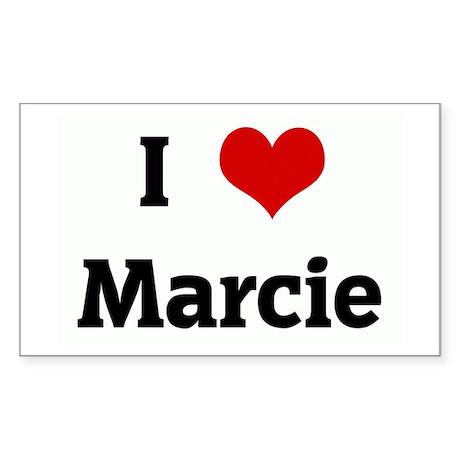 I Love Marcie Rectangle Sticker