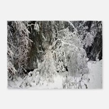 Snowy Christmas 5'x7'Area Rug