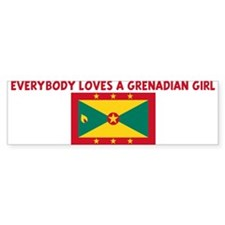 EVERYBODY LOVES A GRENADIAN G Bumper Bumper Sticker