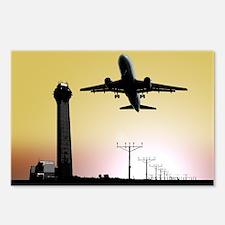 ATC: Air Traffic Control Tower & Plane Postcards (