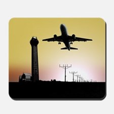 ATC: Air Traffic Control Tower & Plane Mousepad