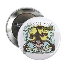 "Spunky Little Monkey 2.25"" Button"