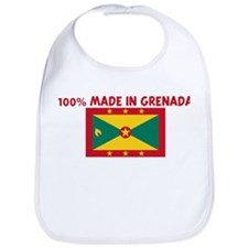 100 PERCENT MADE IN GRENADA Bib