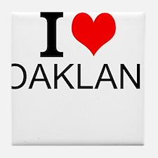 I Love Oakland Tile Coaster