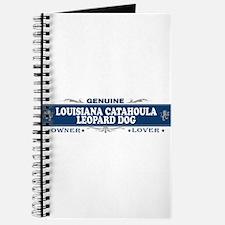 LOUISIANA CATAHOULA LEOPARD DOG Journal
