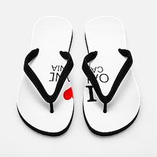 I Love Oakland, California Flip Flops