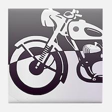 Purple Motorcycle Tile Coaster