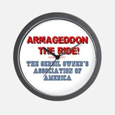 ARMAGEDDON THE RIDE - GERBIL OWNERS ASS Wall Clock