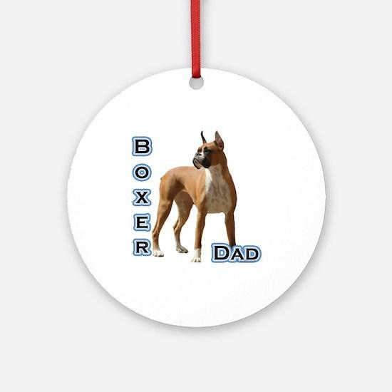 Boxer Dad4 Ornament (Round)