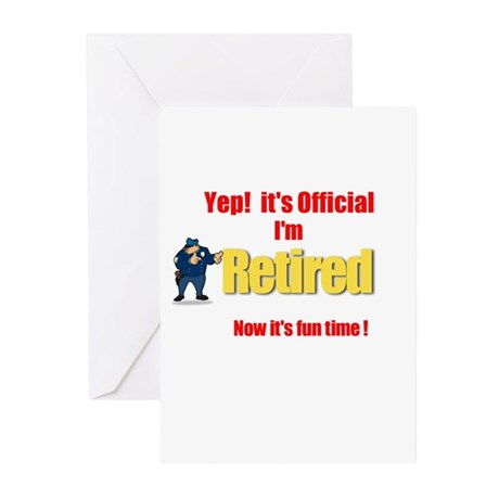 Cop Retirement. :-) Greeting Cards (Pk of 20)