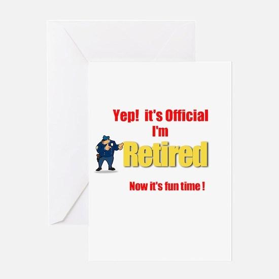 Cop Retirement. :-) Greeting Card