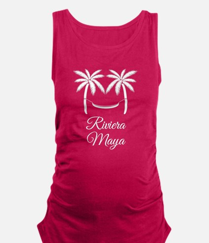 Palm Trees Riviera Maya T-Shirt Maternity Tank Top