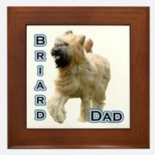 Briard Dad4 Framed Tile