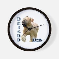 Briard Dad4 Wall Clock