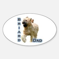 Briard Dad4 Oval Decal