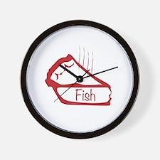 Cute Fish pie Wall Clock