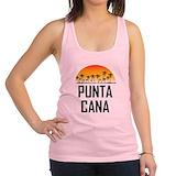 Punta cana beach Womens Racerback Tanktop