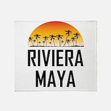 Riviera Maya Sunset Throw Blanket