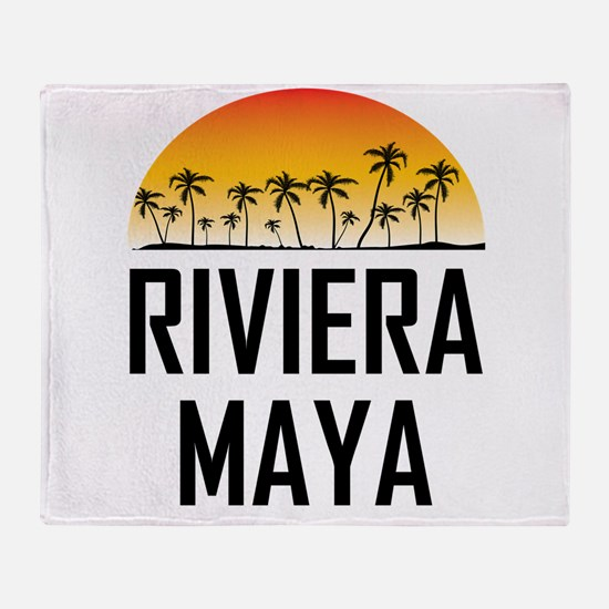 Riviera Maya Sunset Throw Blanket