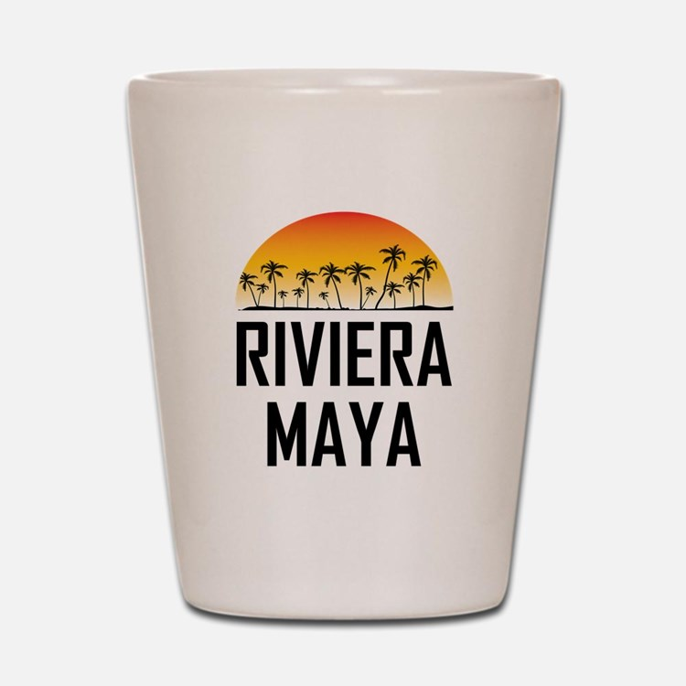 Riviera Maya Sunset Shot Glass
