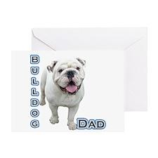 Bulldog Dad4 Greeting Card