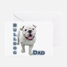 Bulldog Dad4 Greeting Card